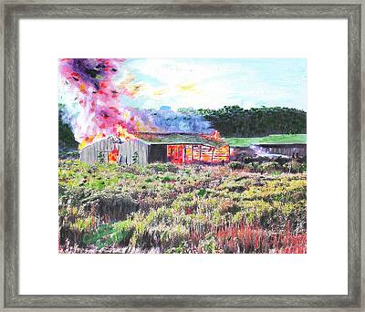 Fire At Whitney Beef Framed Print