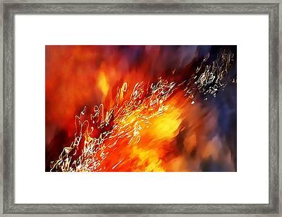 Fire Below Framed Print