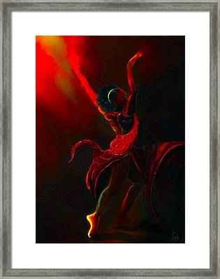 Fire Bender Framed Print