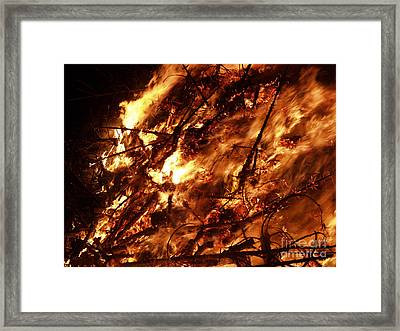 Fire Blaze Framed Print