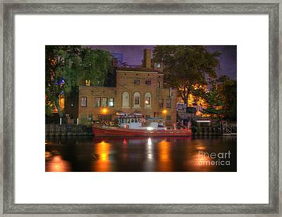 Fire Boat On Cuyahoga River Framed Print