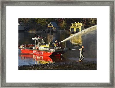Fire Boat Framed Print