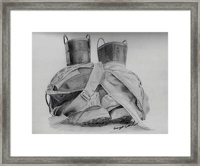 Fire Boots Framed Print by George Carl