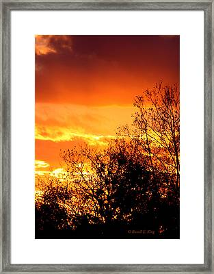 Fire Breather Framed Print by Russell  King