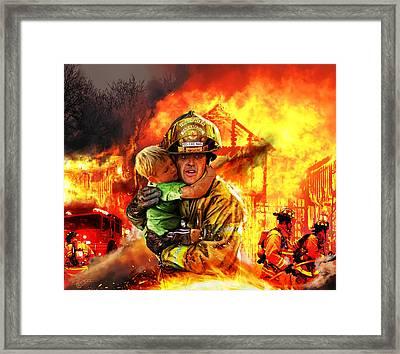 Fire Brigade Framed Print by Kurt Miller