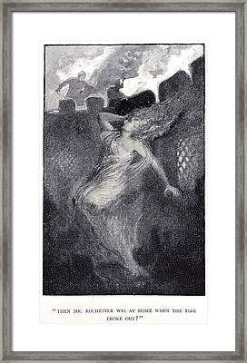 Fire Framed Print by British Library
