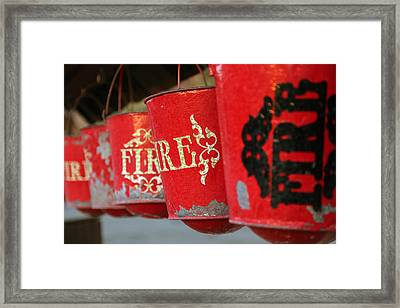 Fire Buckets At Calico Framed Print by Michael Hope