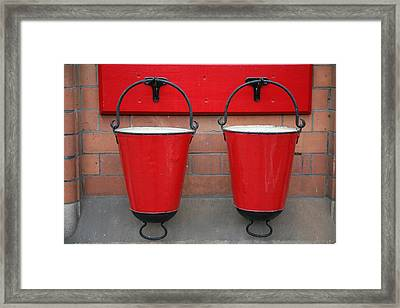 Fire Buckets Framed Print by Mark Severn