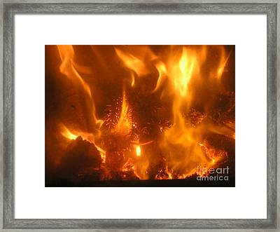 Fire - Burning Love Framed Print