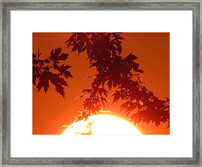 Fire Burning Sun Framed Print