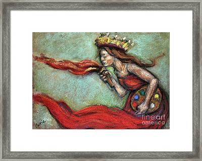 Fire Framed Print by Carrie Joy Byrnes