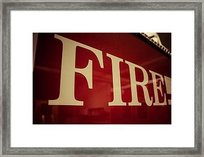 Fire Framed Print by Chris Bordeleau