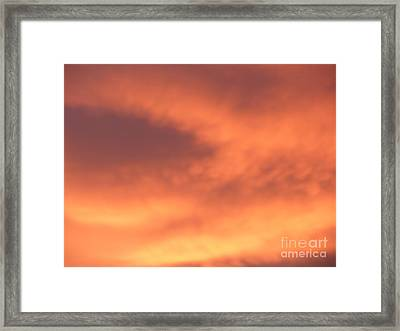 Fire Clouds Framed Print