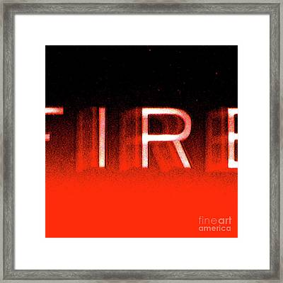 Fire Framed Print by CML Brown
