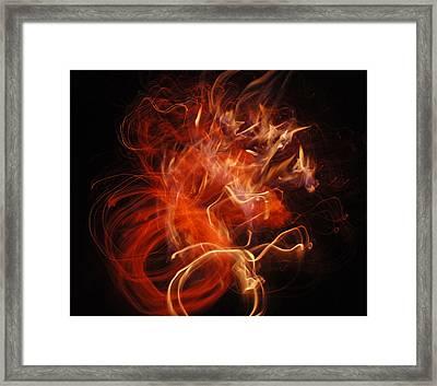Fire Creature  Framed Print by Kjirsten Collier
