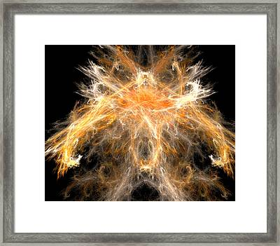 Framed Print featuring the digital art Fire Creature by R Thomas Brass