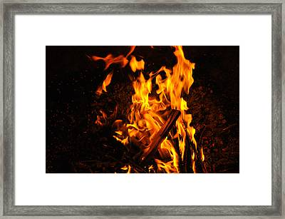 Fire Dance Framed Print by BandC  Photography