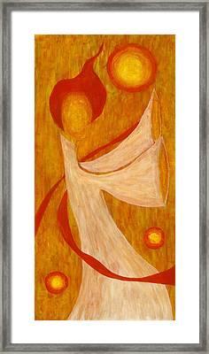 Fire Dance Framed Print by Cornell Wilson Jr