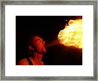 Fire Demon Framed Print
