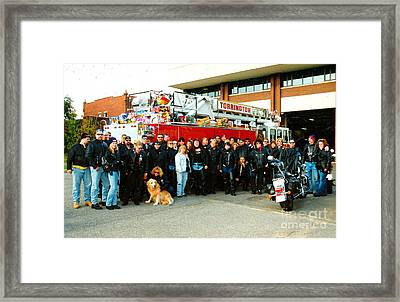 Fire Dept. Toy Run Framed Print