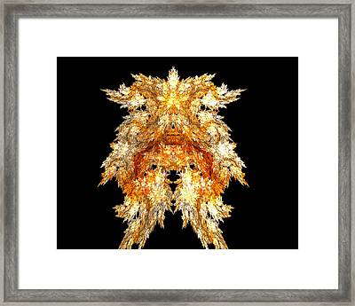 Framed Print featuring the digital art Fire Dog by R Thomas Brass