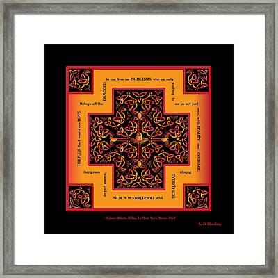 Fire Dragon Celtic Cross Framed Print