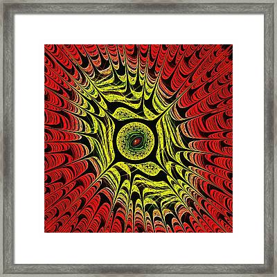 Fire Dragon Eye Framed Print by Anastasiya Malakhova