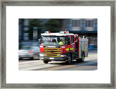 Fire Engine Framed Print by Ashley Cooper