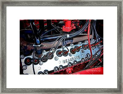 Fire Engine Engine Framed Print by Olivier Le Queinec