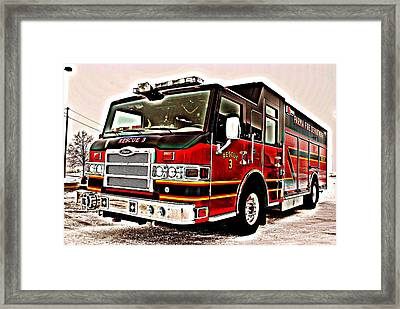 Fire Engine Red Framed Print by Frozen in Time Fine Art Photography