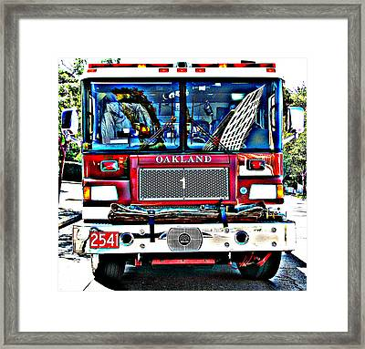 Fire Engine Study 1 Framed Print