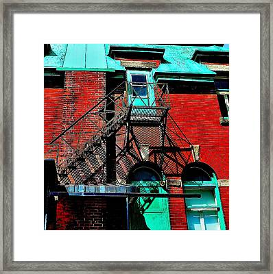 Fire Escape Imprints - Perspective 1 - Ontario - Canada Framed Print