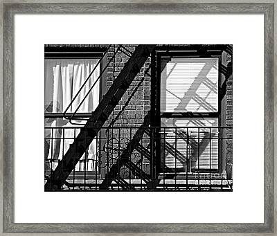 Fire Escape Framed Print by James Aiken