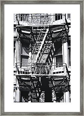 Fire Escape Framed Print by Larry Butterworth
