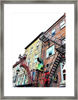 Fire Escape Lattice - Ontario - Canada Framed Print