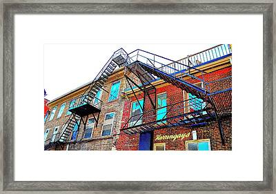 Fire Escape Reflections - Canada Framed Print