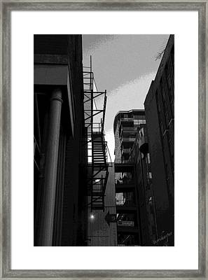 Framed Print featuring the photograph Fire Escape by Terri Harper