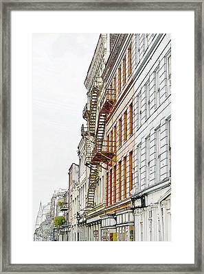 Fire Escapes New Orleans Framed Print by Christine Till