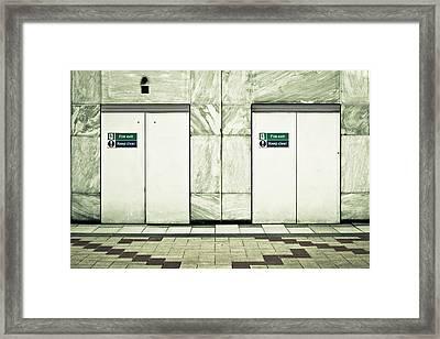 Fire Exits Framed Print by Tom Gowanlock