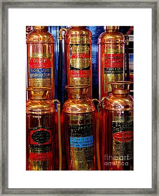 Fire Extinguishers 2 Framed Print