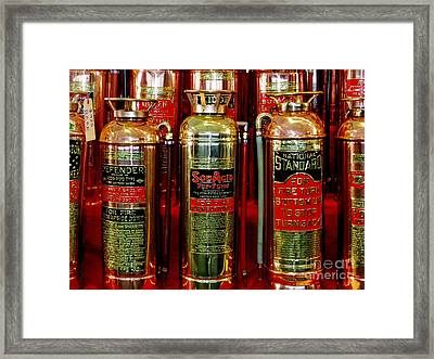 Fire Extinguishers Framed Print