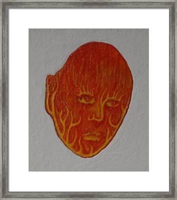 Fire Face Framed Print by Steve  Hester
