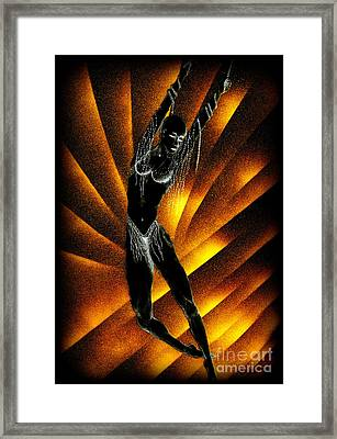 Fire Fall Framed Print by Kenneth Clarke