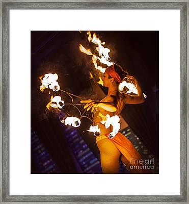 Fire Fans Framed Print