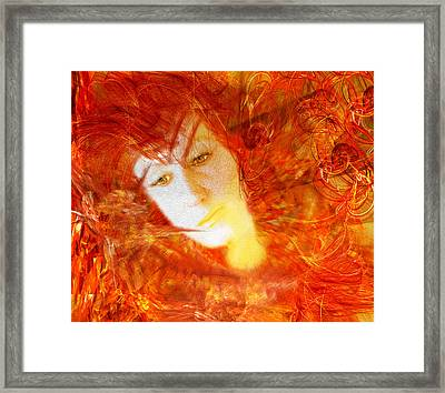 Fire Feme Framed Print by Camille Lopez