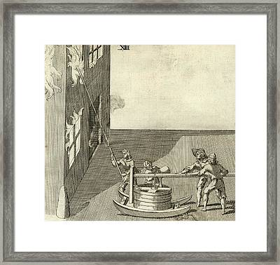 Fire Fighting Framed Print by Rare Book Division/new York Public Library