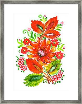 Fire Flower Framed Print