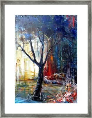 Fire Gate Framed Print