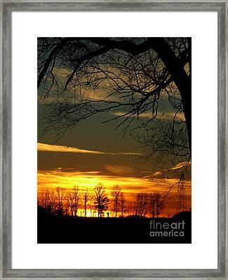Fire Glow Framed Print