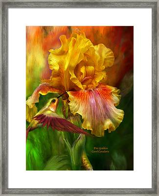 Fire Goddess Framed Print by Carol Cavalaris